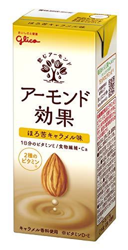 グリコ アーモンド効果 ほろ苦キャラメル味 アーモンドミルク 常温保存可能 200ml ×24本