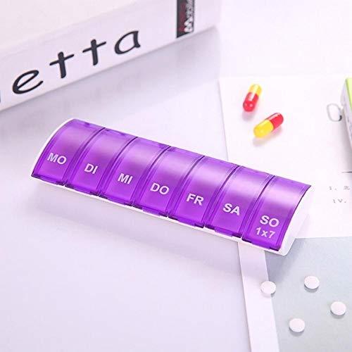 HJCWL 1 stks Draagbare 7 Dagen Wekelijkse Pil Organizer Tablet Pill Opbergdoos Plastic Medicine Box Splitters Gezondheidszorg Tool