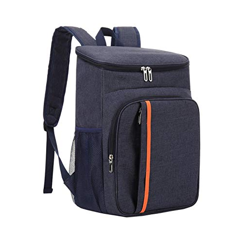 AUTUUCKEE Oxford Tela Cooler Mochila impermeable al aire libre Gran capacidad Beach Picnic Soft Bag (azul marino)