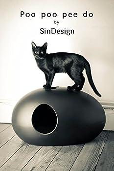 Maison de toilette design / Niche design pour chat - NOIR