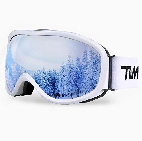 TOMSHOO OTG Gafas de esquí, Gafas Antideslizantes para Deportes de Nieve de Invierno con protección contra Rayos Ultravioleta, Resistentes a los rasguños a Prueba de Polvo