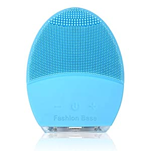 Facial Cleansing Brush, Electric Silicone Face Massager Brush Waterproof Anti-Aging Skin Cleanser and Deep Exfoliator Makeup Tool for Facial Polish and Scrub