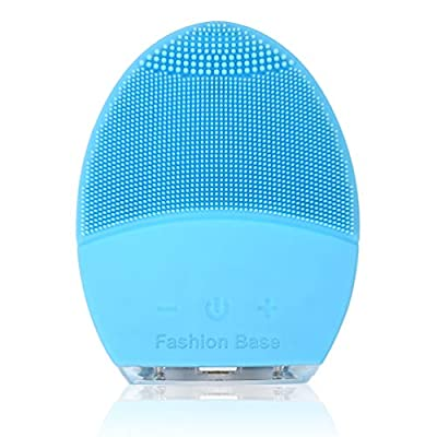 Facial Cleansing Brush, Electric Silicone Face Massager Brush Waterproof Anti-Aging Skin Cleanser and Deep Exfoliator Makeup Tool for Facial Polish and Scrub from Fashion Base