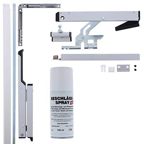 GEZE OL90N OL 90 Oberlichtöffner komplett inkl. 2m Stange Farbe: weiß + ToniTec Beschlägespray