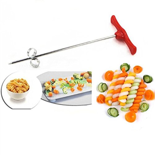 Fruits amp Vegetables Spiral twist knifeStainless Steel Spiral Twist Knife Twist Shredder Ideal for Healthy Snacks Chips Parties