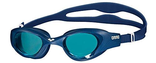 arena Unisex Training Freizeit Schwimmbrille The One (UV-Schutz, Anti-Fog Beschichtung, Harte Gläser), blau (Light Blue (844)), One Size