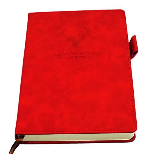 Taccuino di Linea/Ruled Notebook - con copertina pregiata in finta pelle,360 Pagine, A5, 5.7 * 8.3 pollici