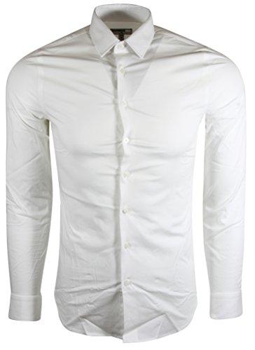 Express Men's Extra Slim Buttondown Shirt (M, White)