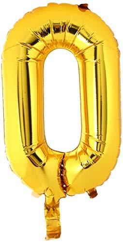 40 cm Air Remplissez Lettre O Ballon de feuille d'or (vendu non gonflé)