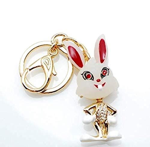 DdA8yonH sleutelhanger, speelse konijn sleutelhanger gesp gesp hanger multifunctionele auto sleutelhanger sleutelhanger sleutelhanger sleutelhanger ring anti-verloren auto sleutelhanger