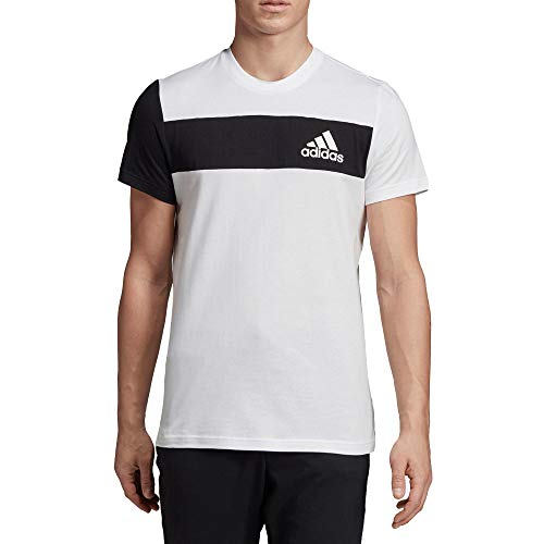 adidas T-Shirt de Sport Id Brnd pour Homme S Blanc/Noir