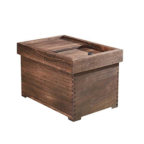 ZWL Boîte de rangement de grain, Boîte de riz en bois solide Boîte de rangement de céréales Pest Control Préservation de l'humidité Conservation Cuisine Ménage Grain Storage Box 5-10 kg Récipient sain de stockage de céréales ( Capacité : 10kg , Couleur : #2 )