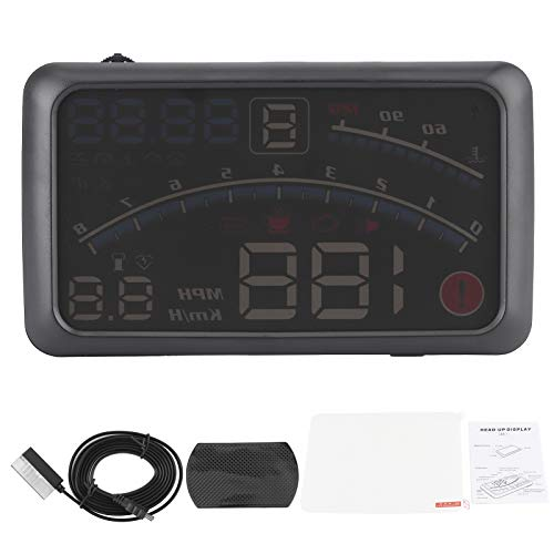 Tomanbery Head-Up Display Proyector de Coche Headup Display OBD2 Head-Up Display Black HUD Head-Up Display para Coche