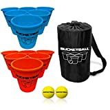TENS OF THOUSANDS SOLD!!! BucketBall is the ultimate beach, pool, poolside, backyard, camping, tailgating and outdoor game family and friends love playing. WHAT'S INCLUDED? Our Beach Edition Starter Pack Includes 12 Ultra-Durable Buckets (6 Light Blu...