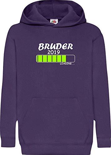 Shirtinstyle Enfants Hooded Chargement Bruder 2019 - Mauve, 164