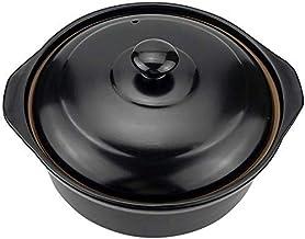 Praktisch Braadpan gerechten ronde keramische braadpan schotel, hittebestendige aarden pot klei pot soep pot met deksel hi...
