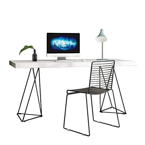 AJH - Mesa de ordenador para casa, oficina, moderna, simple, estilo industrial, escritorio