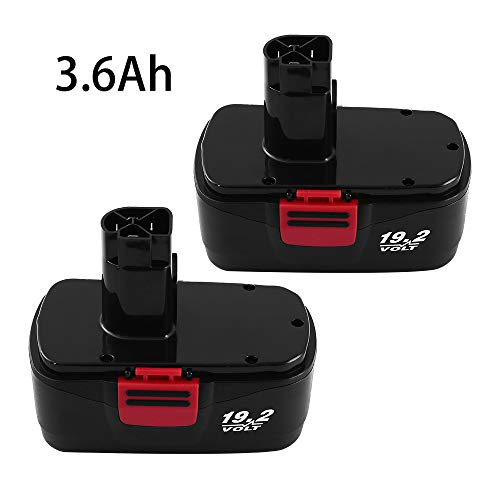 Extended to 3600mAh C3 Battery Replacement for Craftsman 19.2 Volt Battery 315.115410 315.11485 130279005 1323903 120235021 11375 11376 Cordless Drills 2 Packs