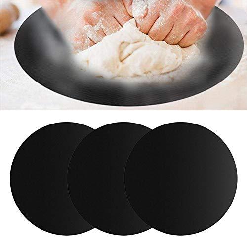 Cliff.l Silikon Backmatte Silikonmatte 2 Stück Runde Teigmatte Kuchen Kochen Silikon-Backmatten Bakeware Mats Nonstick Baking Mat Haltbare Dauerbackfolie