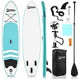 Caroma Tabla de surf inflable de pie para tabla de surf SUP,...