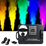 Tengchang 1500W Fog Smoke Machine RGB 3in1 24 LED Light DMX DJ Stage Party Show Wireless Remote Fogger