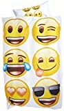 Emoji Bettwäsche glatt Smileys Sky Brands 135 x 200 cm Geschenk NEU Wow - All-In-One-Outlet-24 -