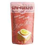 Keto Dessert Low Carb Diabetic LCHF Healthy Cake Mix - Sugar Free Gluten Free Keto Sweets Treats Food for Breakfast - 1 Keto Baking Mix - Orange Almond Muffins Cupcakes- by Sweet Logic (Primal Noms)