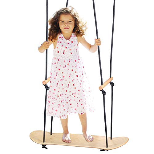 The Original Skateboard Swing Surfering Swing for Kids and Adults, Canadian Maple Wood, Holds up to 250 Pounds, Indoor/Outdoor