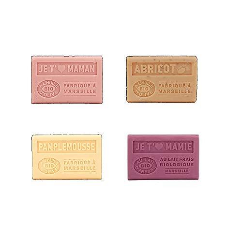 Label provence - Lot de 4 savons à l'huile d'olive BIO senteur\