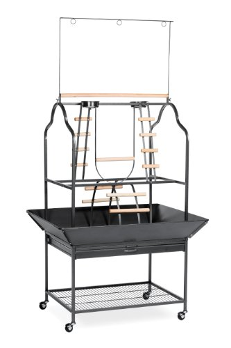 Hot Sale Prevue Hendryx 3180 Pet Products Parrot Playstand, Black Hammertone