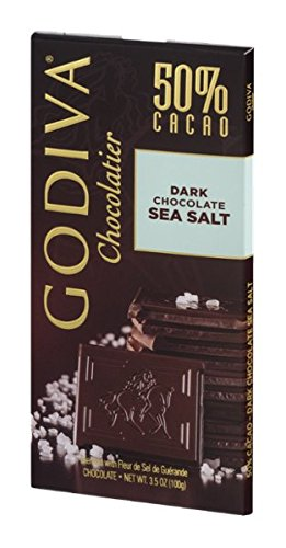 Godiva Chocolatier 50% Cacao Dark Chocolate Sea Salt 3.5 Oz