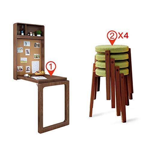 Folding table An der Wand montierter klappbarer Esstisch, unsichtbarer Esstisch, Schreibtisch, Bartheke, verformbarer Multifunktions-Esstisch