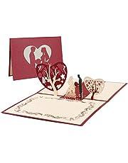 Vicloon 3D-kaart, wenskaarten, Valentijnsdag, huwelijksuitnodiging, voor verjaardag, huwelijk, afstuderen, Valentijnsdag, huwelijkscadeau