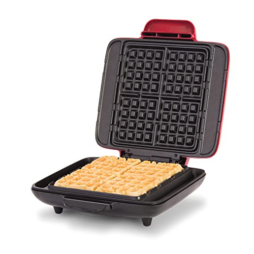 Dash Deluxe No-Drip Belgian Waffle Iron Maker Machine 1200W + Hash Browns, or Any Breakfast, Lunch, & Snacks with Easy Clean, Non-Stick + Mess Free...