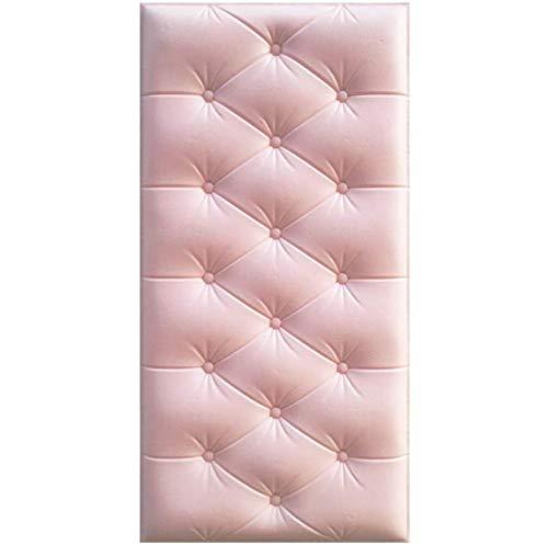 5PCS 3D Wall Stickers, DIY Anti-Collision Soft Wandsticker, Strijkijzer, Zelfklevend Behang Kunst Van De Muur Decor Voor Kids Bedroom Living Room, 60 * 30CM,Pink