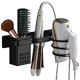 Soporte para secador, Plancha de Pelo de Aluminio para Secador de Pelo Montado en Pared Metal Estante de Organizador para Baño, Dormitorio, Hotel