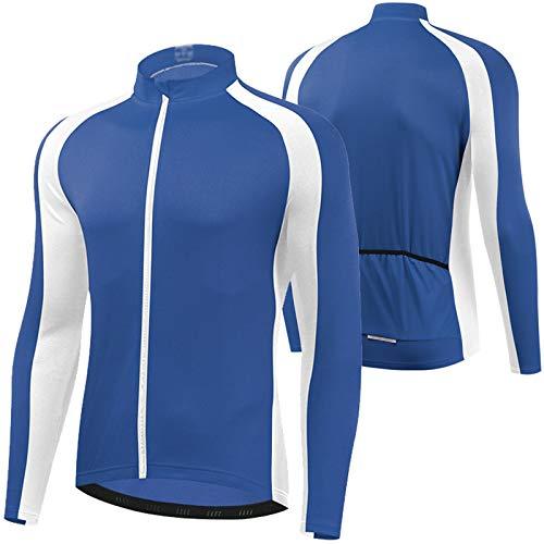 WWAIHY Giacca Antivento Ciclismo Uomo,Traspirante Abbigliamento Sportivo Giacchetto,Zip-off Trekking MTB Giacca da Ciclismo,per Il Ciclismo Corsa Sportiva Cycling Jacket(Size:XXXL,Color:Blue)
