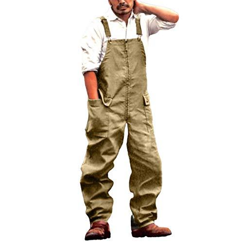 Salopette da Lavoro Pantaloni da Lavoro Uomo,Tuta da Lavoro Uomo,Gilet con Bretelle,Army Green,1X