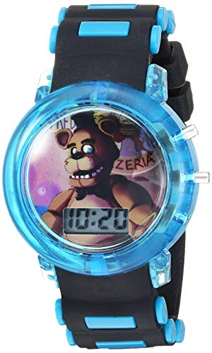 Five Nights at Freddy's Boys' Quartz Watch with Plastic Strap, Black, 15 (Model: FNF4046AZ)