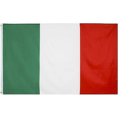 BESPORTBLE Bandiere Italia Gioco Sport Fan Tifo Bandiera Giochi Olimpici Sport Italia Parata Bandiera Paese Decorazione Evento -90X150cm (Verde)