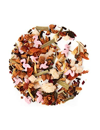 DAVIDsTEA Flamingo Fresca Loose Leaf Tea, Premium White Tea with Strawberry and Flamingo Candies, Fruity Iced Tea, 1.76 oz / 50 g