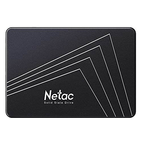 Netac SSD 500 GB, Disco Duro sólido Interno, Estado sólido Interna, hasta 530 MB/s, 2.5' SATA, 3D NAND Flash Internal SSD, tabletas, Ordenadores de sobremesa, PC