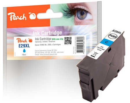Peach Tintenpatrone XL cyan kompatibel zu Epson No. 29XL, T2992