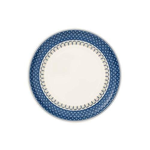 Villeroy & Boch Casale Blu Assiette petit-déjeuner, 22 cm, Porcelaine Premium, Blanc/Bleu