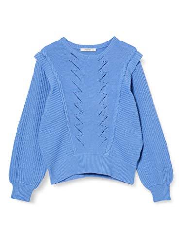 GESTUZ Damen Liz Pullover, Blau (Granada Sky 90378), Large