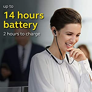 Jabra Evolve 75e UC Wireless Bluetooth Earbuds In Ear Noise Cancelling Earbuds with Professional Sound, Around the Neck Style with Secure Fit for Calls and Music, Long Battery Life