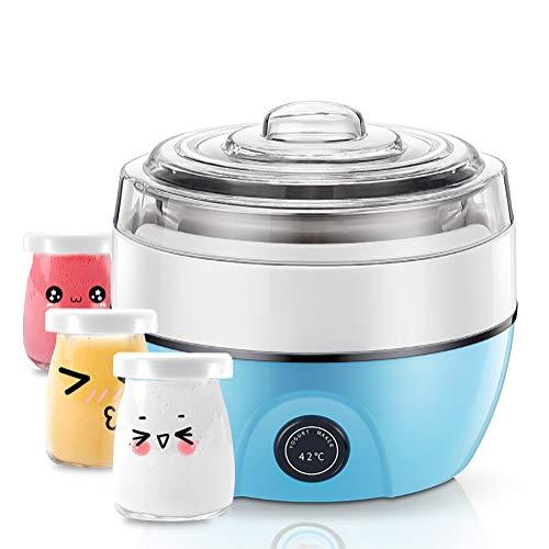 QQO Fabricante De Yogur, Yogurtera Eléctrica Mini Multifunción 3 Tazas De Yogur...