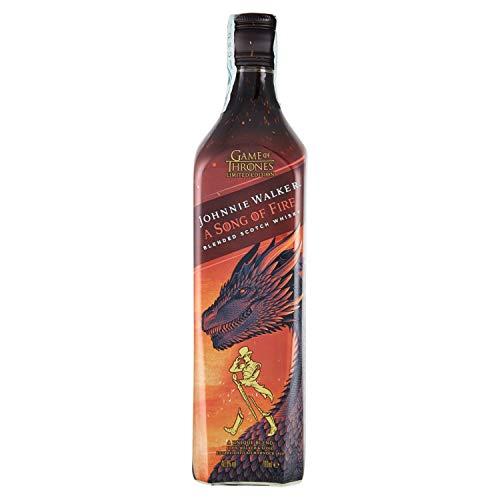 Johnnie Walker Song of Fire Blended Scotch Whisky, Edizione Limitata Trono di Spade, Casa Targaryen - 700 ml