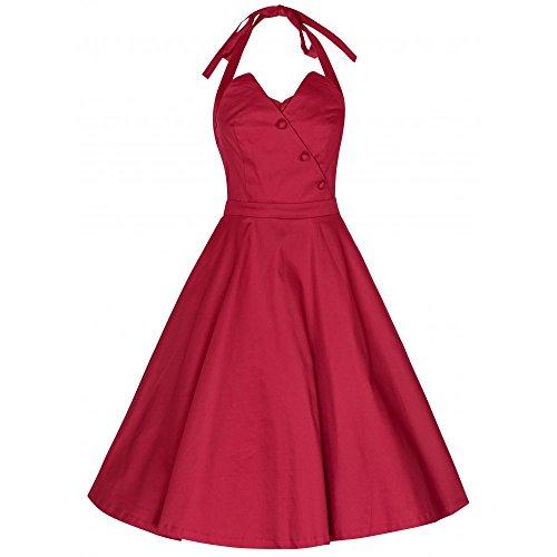 Lindy Bop Damen Myrtle Kleid, Rot (Red), 44