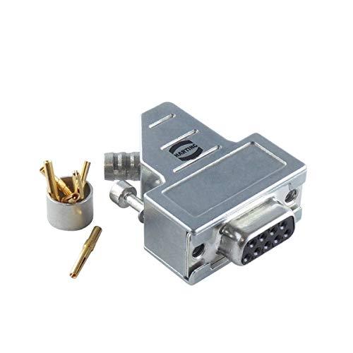 HARTING 6103 401 0096.00 D-Sub Kupplung, 9-polig, mit Metallgehäuse, 6 Pins 0,75mm²...